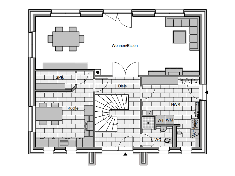 Haustyp Spezial 3 Grundriss Erdgeschoss | Lemke Bau