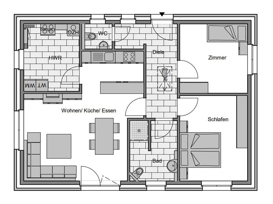 Haustyp Format 1 Grundriss | Lemke Bau