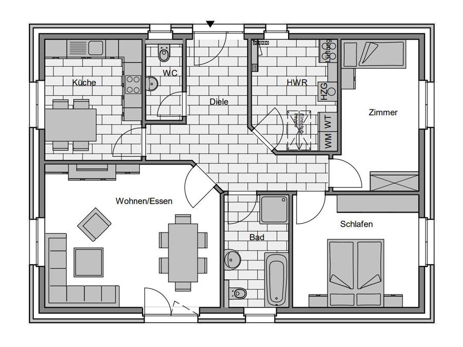 Haustyp Format 2 Grundriss | Lemke Bau