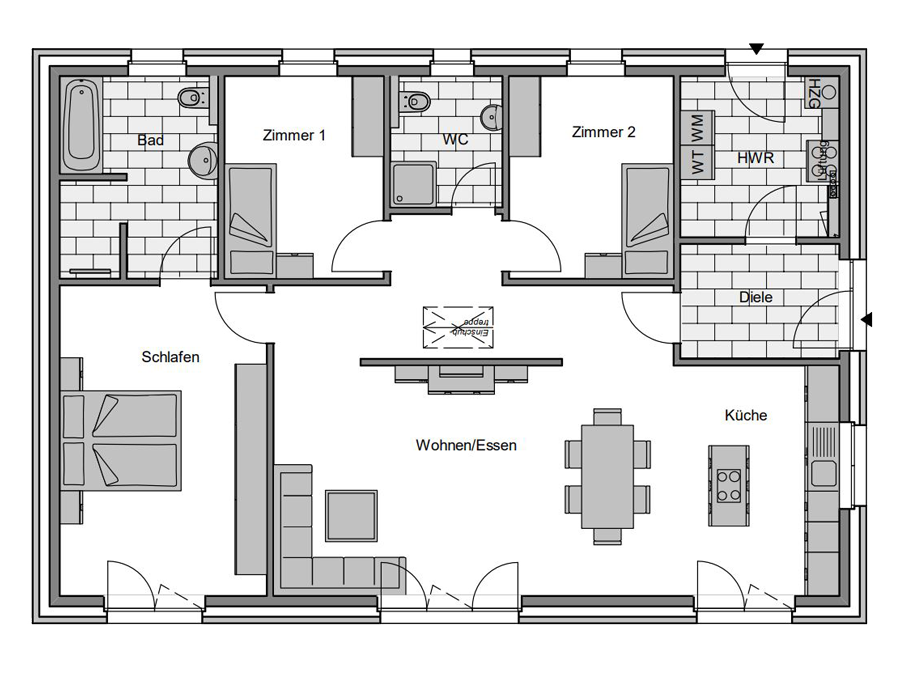 Haustyp Format 3 Grundriss | Lemke Bau